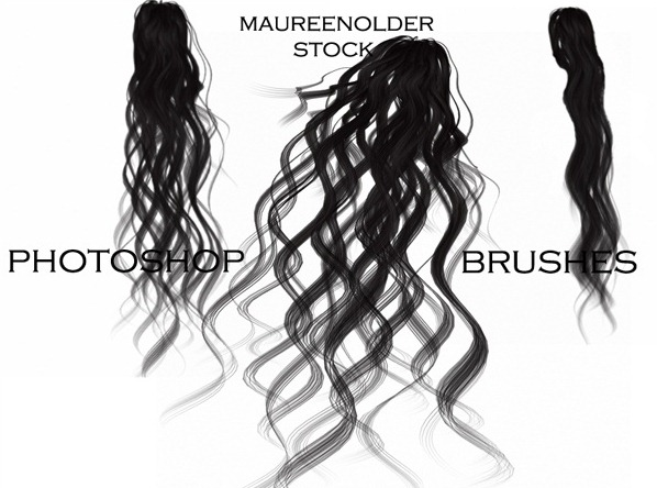 20+ Great Sets of Free Photoshop Hair Brushes
