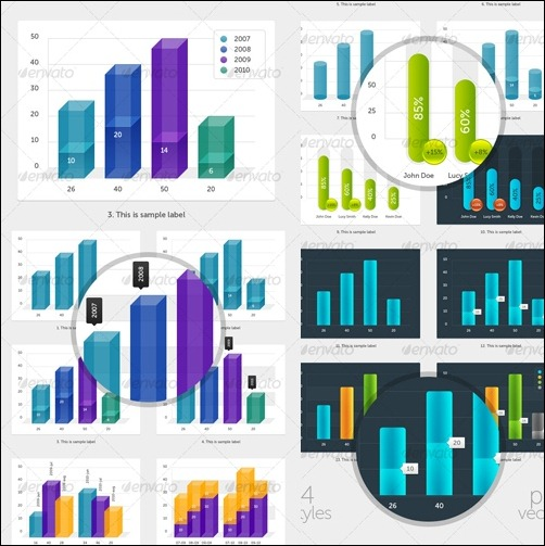 bar-charts-infographic-elements