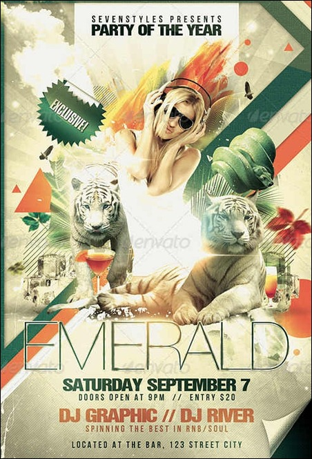 emerald-flyer-template