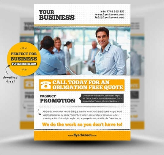 flyers for small business free templates thevillas co