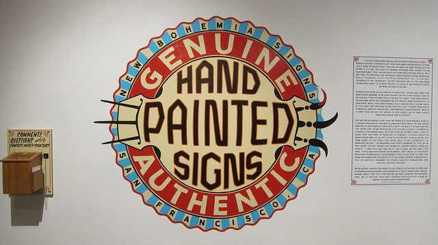 genulne hand painted signs authentic