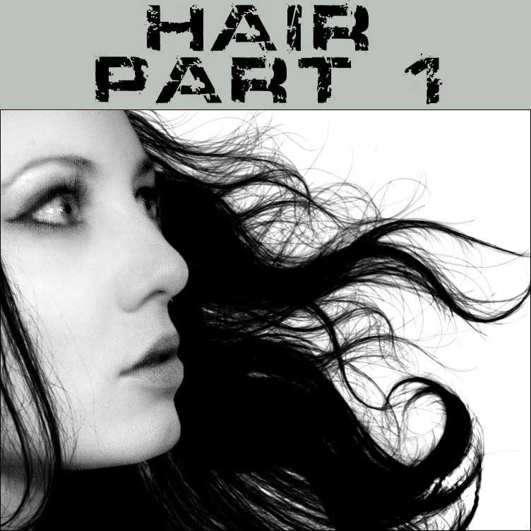 how to draw hair in photoshop cs6