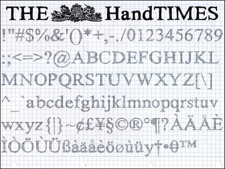 hand-times-hand-drawn-font