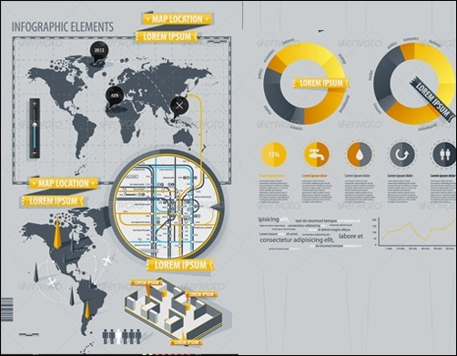 Powerful infographic design kits infographic elements with world map publicscrutiny