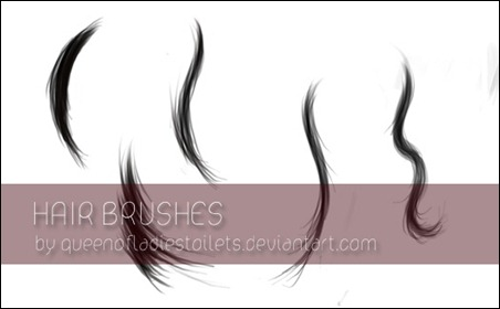 painted-hair-brushes