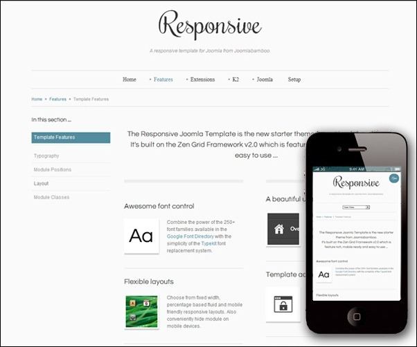 the responsive joomla template