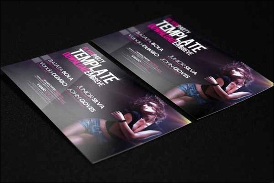 template-flyer-girl-dance