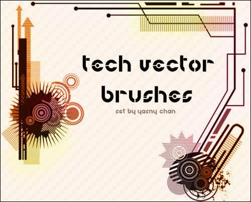 tech-vector-brushes