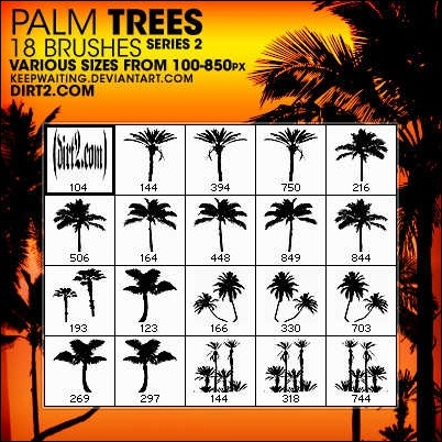 palm-tree-brushes