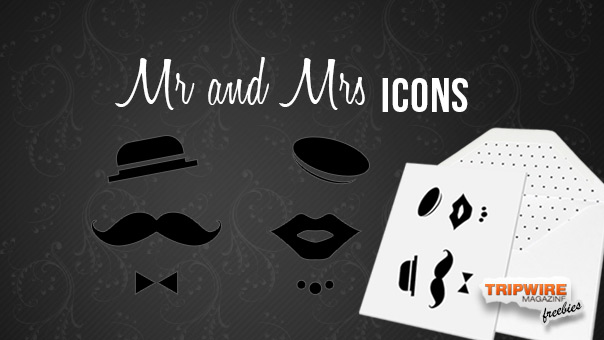 Freebie Friday – Mr and Mrs Vector Icons