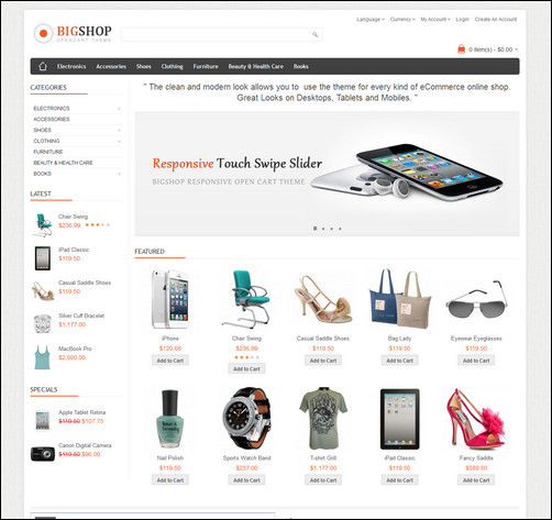 45 excellent opencart templates your customers cannot resist bigshop multipurpose responsive opencart theme maxwellsz