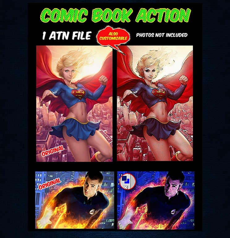 Comics Photoshop Action Photos A Retro Comic Book Effect
