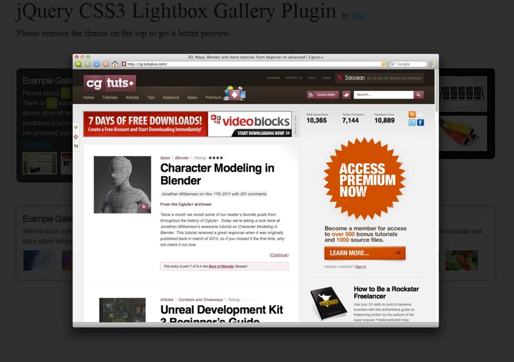 JQuery LightBox Plugins - Page 1