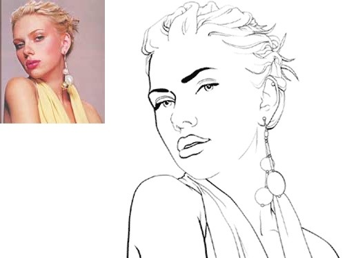 Line Art Action Photo : Awesome photoshop cartoon tutorials and actions