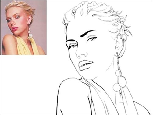 Line Art Effect Photoshop : Awesome photoshop cartoon tutorials and actions
