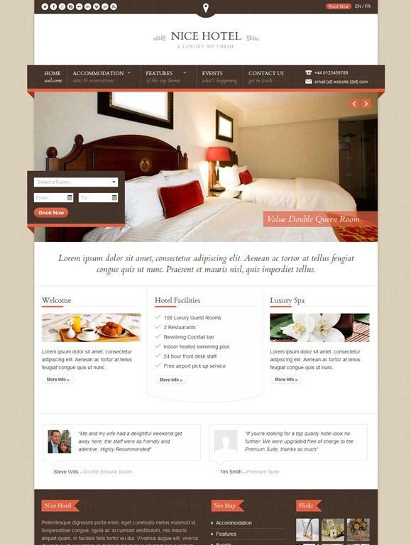 20 Great WordPress Hotel Theme Collection