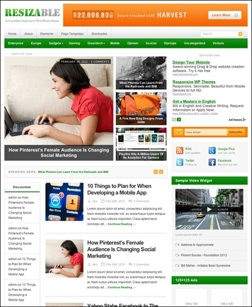 resizable-responsive-magazine-theme