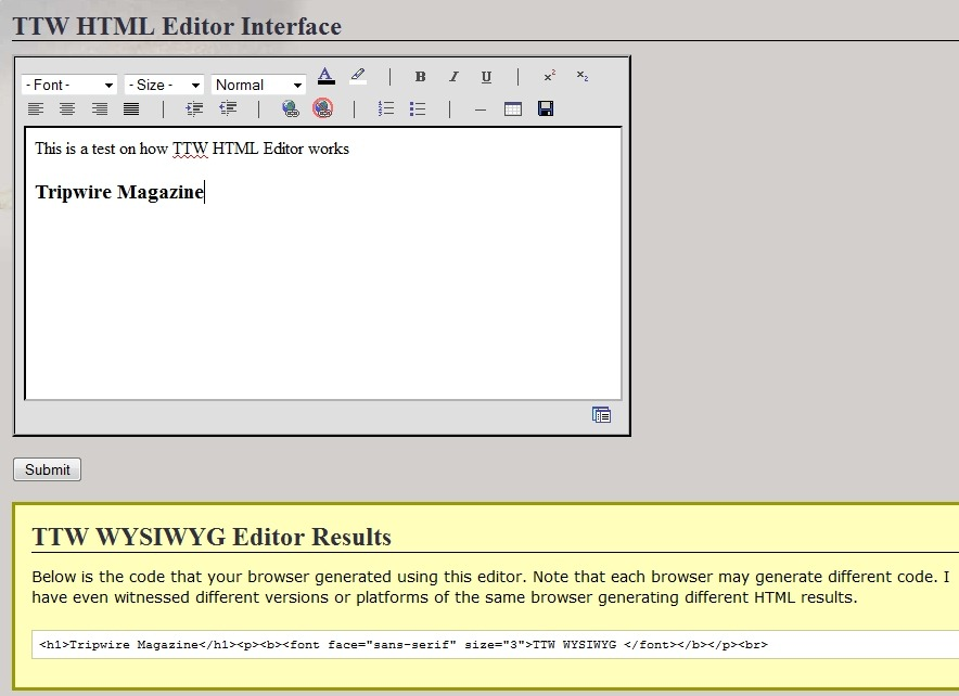 Online writing editor