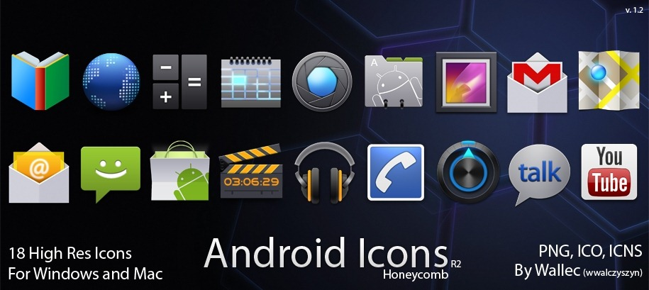 30 high quality and free android icon sets