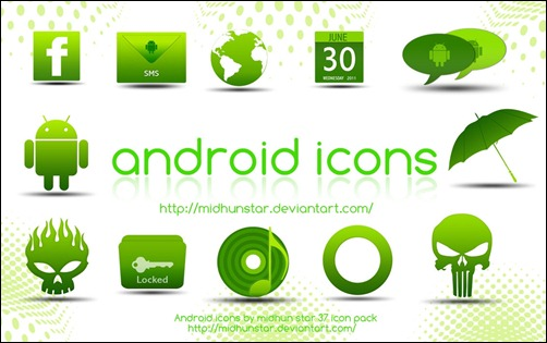 android-green-icons