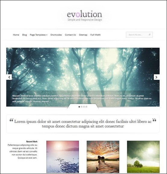 Evolution Minimal Responsive theme