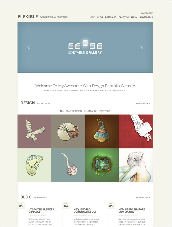 Flexible Responsive WordPress Portfolio Theme