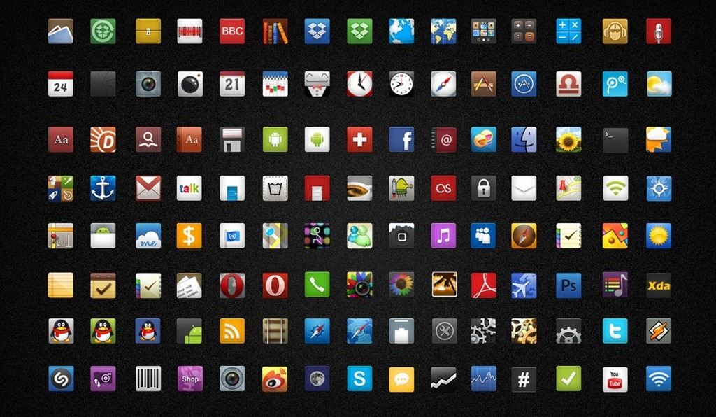 30 highquality and free android icon sets