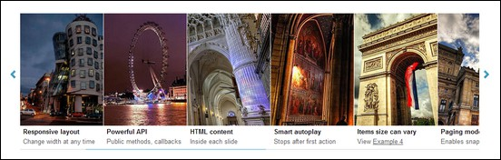 TouchCarousel - jQuery Content Carousel