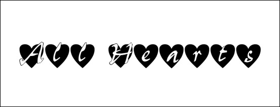 all-hearts-font-