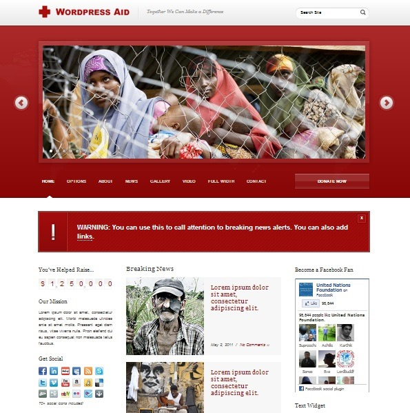 Download free software Wordpress Religious Website Templates