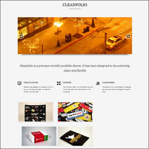 cleanfolio tumblr theme