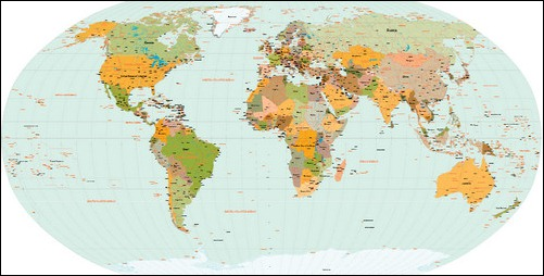 Useful Free World Map Vector Designs - World map la