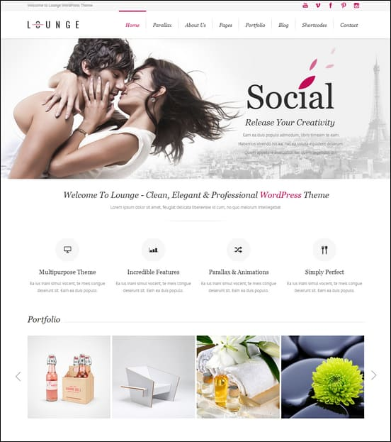 Lounge - Clean Elegant WordPress Theme