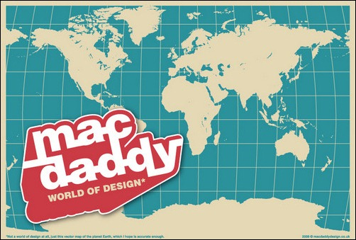 macdaddy world map vector