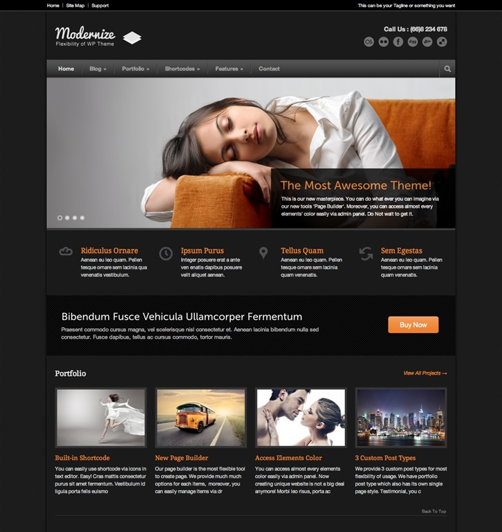 Excellent Dark WordPress Themes Want Your Website To ROCK - Website templates wordpress