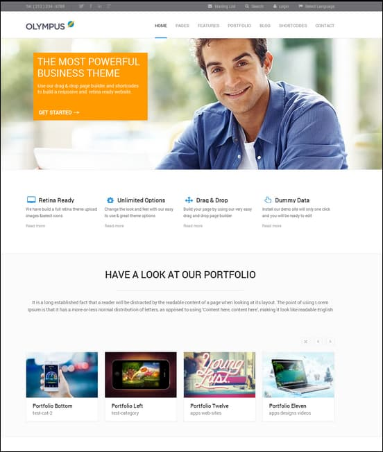 Olympus - Responsive Multi-Purpose WordPress Theme