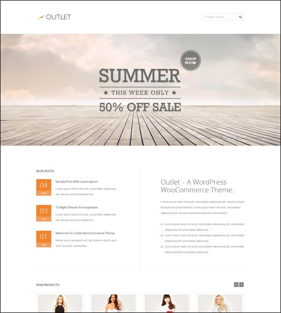 Outlet - Multi-Purpose WooCommerce Theme