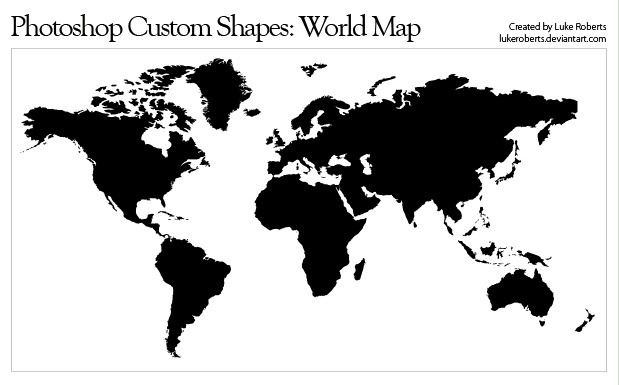 25 useful free world map vector designs photoshop shapes world map vector gumiabroncs Gallery