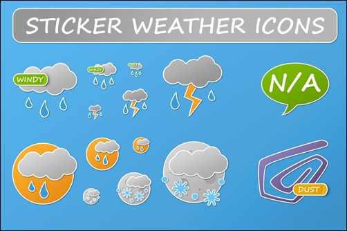 sticker-weather-icons