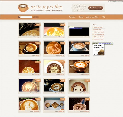 Art In My Coffee Creative Tumblr Blog Designs