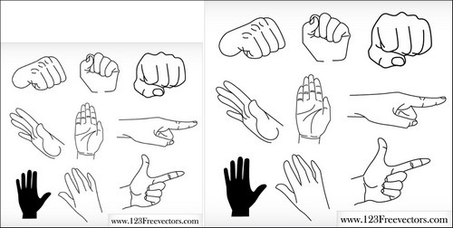 50 Useful Hand Vector Sets - Give Your Designs a Hand!
