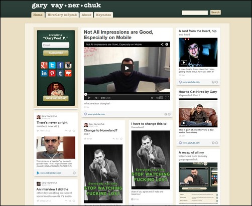 Gary Vaynerchuk Creative Tumblr Blog Designs