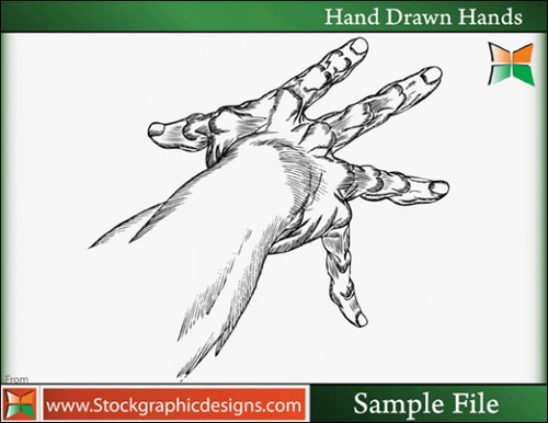 Hand-Drawn-Hands-Vector