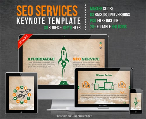 SEO Services Keynote Template