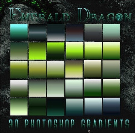 emerald-dragon-ps-gradients