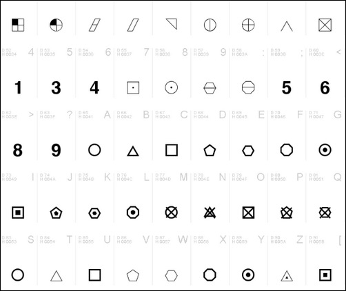 45 Pictogram Dingbat Fonts