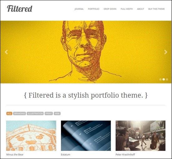 Filtered WordPress Theme