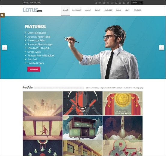 lotus-flexible-wp-theme