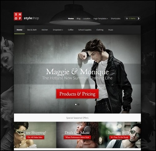 styleshop best wordpress theme ecommerce
