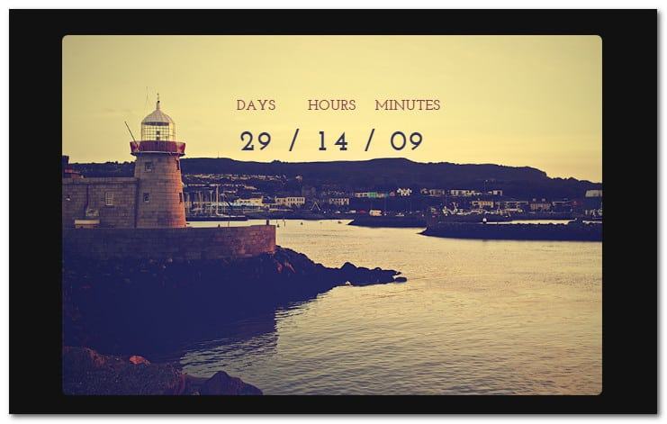Soon Countdown Builder, Responsive jQuery Plugin